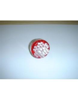 AMPOULE ROUGE A 30 LEDS POUR FEU ARRIERE - STOP/VEILLEUSE - L'UNITE - NOMBREUX VEHICULES (ex : TMAX)