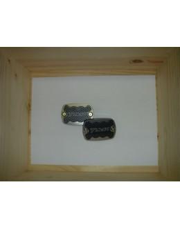 CAPOTS LOOKED DE FREINS BI-COLORE CARBONE BRILLANT 2/ALU - TMAX 2001/2007