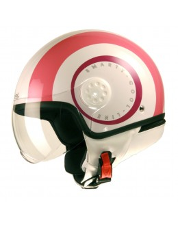 HELMET PROJECT SMARTY ROSE ET BLANC
