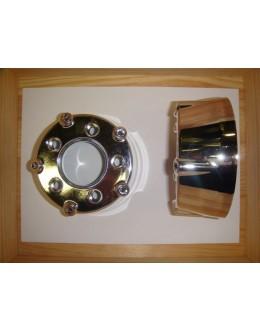 GRILLE RONDE DE POT CHROME - TMAX 2001/2011