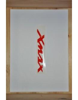 SIGLE XMAX EN RELIEF ROUGE - LA PAIRE