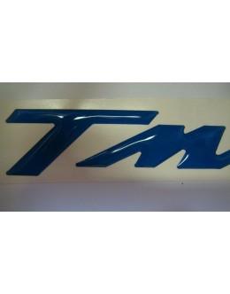 SIGLE TMAX EN RELIEF BLEU - LA PAIRE