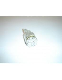 AMPOULE CLIGNO. A 9 LEDS BLANCHES - MODELE WEDGE - L'UNITE - NOMBREUX VEHICULES (ex : TMAX)